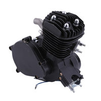 Exquisite 2 Stroke 80cc Cycle Motor Engine Kit Gas Perfect For Motorized Bicycles Cycle Bikes Black