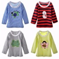 DANROL Baby boys t-shirt long sleeve Pajamas shirt Girls Tees t shirts 100% Cotton 5pcs/pack