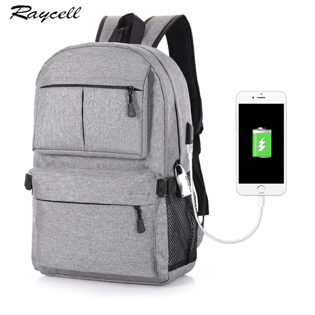 604358e141fd Anti-theft Design USB Charging Laptop Backpack Men s Male Casual Women Backpacks  Teenagers Student School Bags Simple Notebook