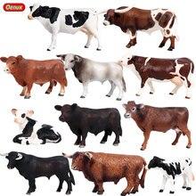 Oenux original fazenda animais modelo de simulação de gado vaca panturrilha ox pvc animal de ação coleção figura, brinquedo educativo para a criança