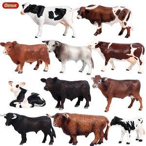 Image 1 - Oenuxオリジナルファーム動物モデルシミュレーション牛ふくらはぎブルox pvc動物アクションフィギュアコレクション教育玩具子供のため