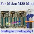 """De alta calidad de nueva digitalizador de pantalla táctil + lcd de repuesto para meizu m3s mini meilan 3 s teléfono 1280*720 5.0 """"con Marco"""