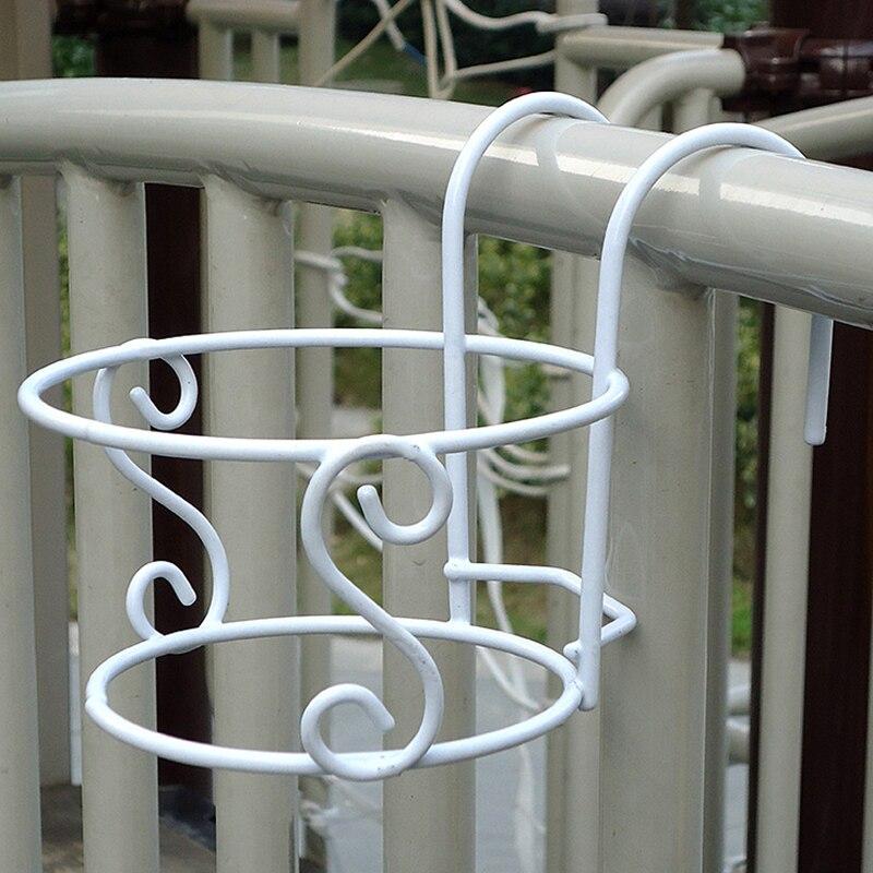 Подвесная рамка с цветами для наружного ограждения Декор круглые подвесные вешалки цветочный горшок Висячие