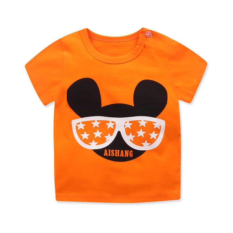 New Summer Baby T Shirt For Boys Girls Kids Clothes Short Sleeve Cartoon T-Shirt  Baby Boy Girl Clothes bebes Toddler Tops Tee