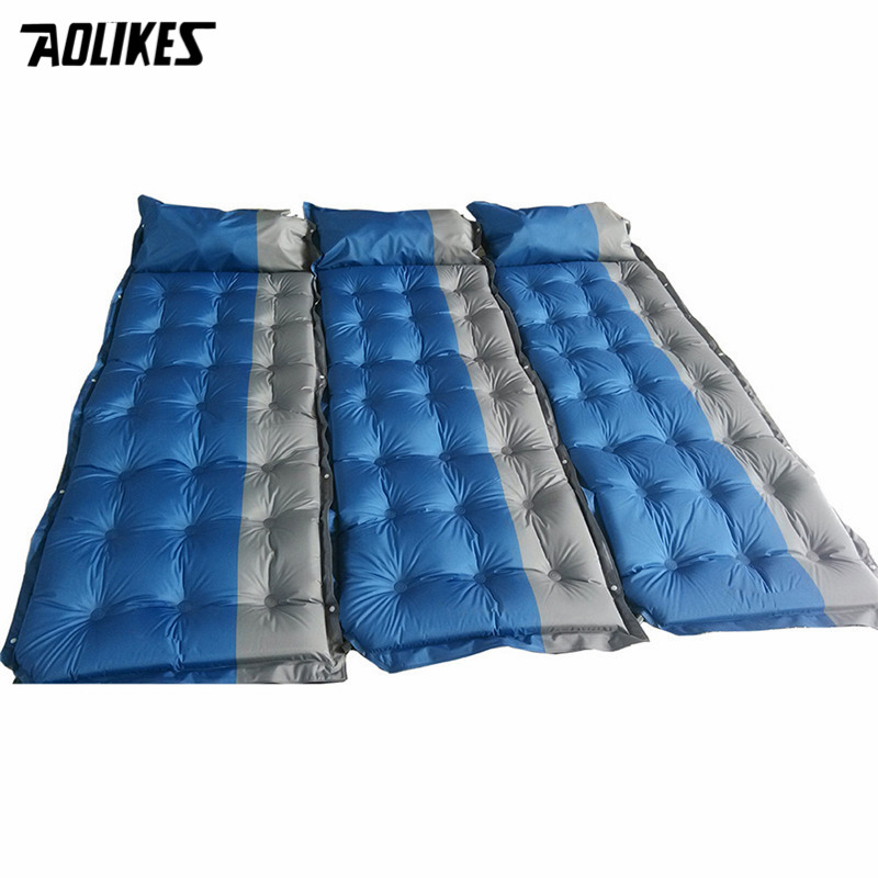 Automatic Inflatable mattress Camping Mat Outdoor PVC Cushions Inflatable Air Mattress Camping Sleeping Pad With Pillow 2018 inflatable mattress beach mat automatic air mattress camping mat air bed with pillow sleeping pad 188 57