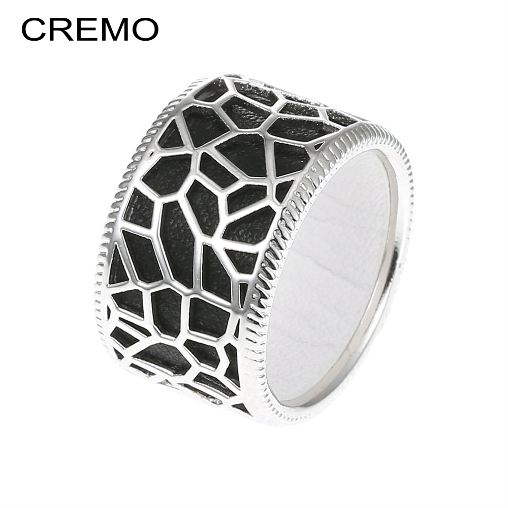 Cremo Girafa Anéis Mulheres Intercambiáveis Anel Elegante Bijoux Femme Cuir Couro Oco Georgettes Anéis Bague Argent Cocktail