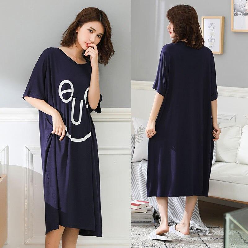 Women Plus Size Lingerie Short Sleeve Nightgown Female Homewear Oversize Night Dress Summer Sleepwear Home Clothing For 80-110Kg
