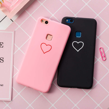 Купить с кэшбэком Fashion Love Heart TPU Silicone Case Protective Soft candy Cover For Huawei Honor 8X 7A pro Y5 lite Y6 Prime P smart 2018 2019
