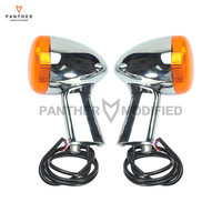 Motorcycle Rear Turn Signal LED Indicator Lights Moto Taillight Case For Harley XL 883 1200 Sportster