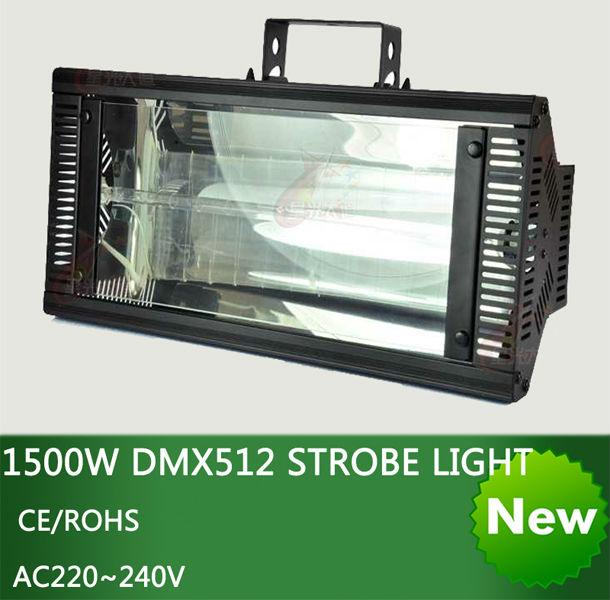 High Qlity Stereotypes packaged1500W DMX512 luz estroboscópica dj disco light-1500W Iluminación de flash estroboscópico con efecto de escenario profesional