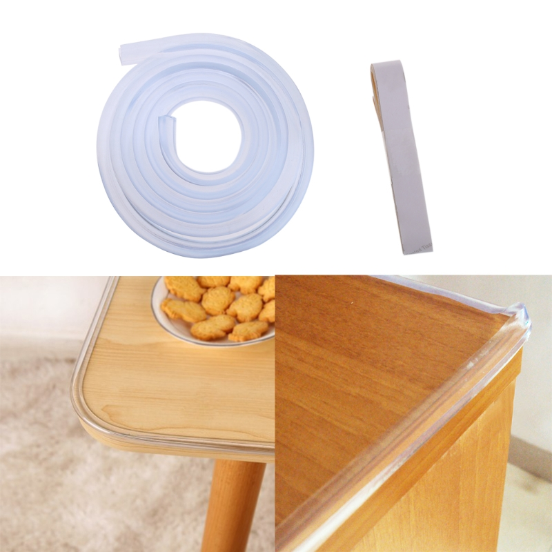 New Arrival 1M Baby Safety Desk Table Edge Corner Protector Cushion Guard Strip Soft Bumper #330
