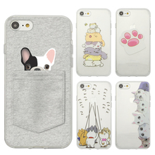 Lovely Pet Series Phone Case For iPhone 5 5s SE 6 6s 6 Plus 6s Plus 7 7Plus Painted TPU Soft Case