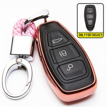 TPU Car Key Cover Case For Ford C-MAX Focus 3 4 RS ST Fiesta Hatch Mondeo MK2 MK3 MK4 Kuga Escape Edge Ecosport Explorer Ranger(China)