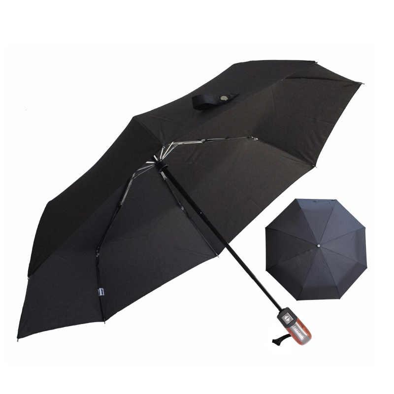Otomatis Lipat Payung Pria Hujan Kualitas UV Tahan Angin Besar Paraguas Pria Garis Persil 4 Warna Merekomendasikan