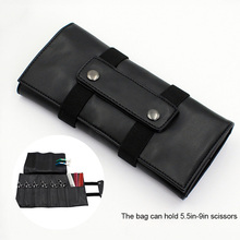 Professional Scissor Bag PU Leather Salon Hair Cutting Bags Barber Hairdressing Tools Organizer MH88 недорого
