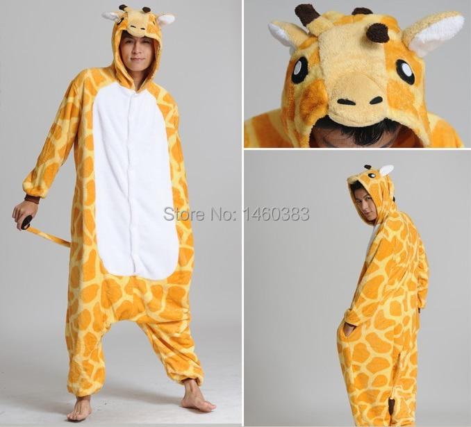 77106a41606a HOT Unisex Men Women Adult Pajamas Cosplay Costume Animal Onesie Giraffe  Sleepwear S M L XL-in Pajama Sets from Underwear   Sleepwears on  Aliexpress.com ...