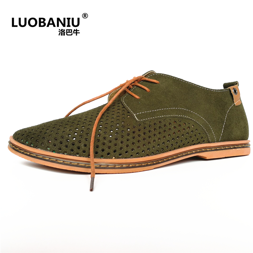 New hot fashion breathable Hollow hole shoes brand large size cattle suede casual men' s shoes Big size men's shoes EUR SIZE 48 casual waterproof boot silicone shoes cover w reflective tape for men black eur size 44 pair