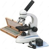 Aletler'ten Mikroskoplar'de Öğrenci Bileşik Mikroskop AmScope Malzemeleri 40X 1000X Ev Okul Öğrenci Bileşik Mikroskop + 50 Hazırlanan Slayt Koleksiyonu