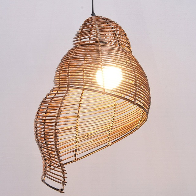 pastorale rotan slak kinderkamer hanger lampen creative eetkamer hanglamp bar cafe winkels hangende verlichting