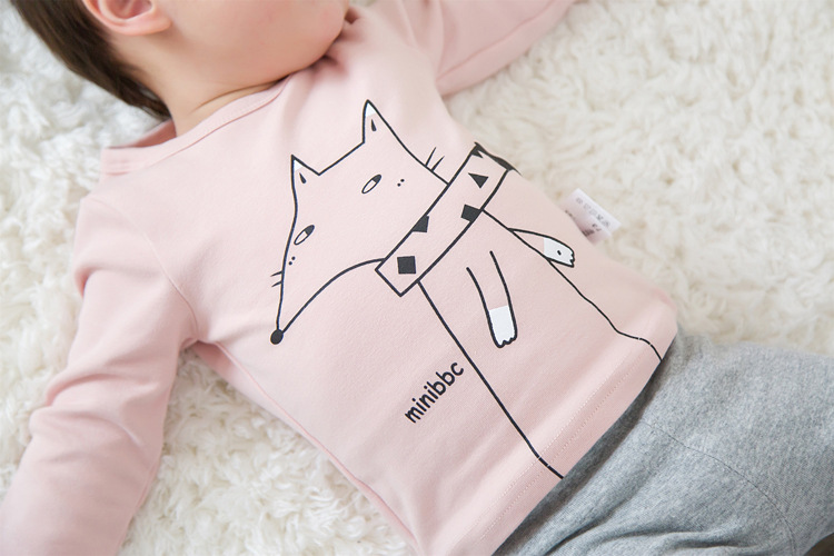 2017 Toddler Kids Baby Boys Girls Infant spring Autumn Long Sleeve cartoon Fox T-Shirt Tops Clothing Cotton cloud rain T-Shirts (21)