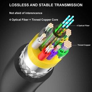 Image 3 - HDMI Kabel Optische Faser HDMI 2,0 Kabel 4K 60HZ 3D 5m 10m 15m 20m 30m 40m 50m 100m für HD TV LCD Laptop PS3 Projektor Computer