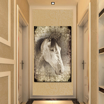 White Horses Paintings Printed on Canvas 2
