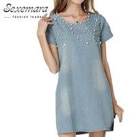 MAKIYO 2016 Plus Size 4XL Jeans Sundress Women S Casual Denim Dress Vestidos Feminina Summer Style