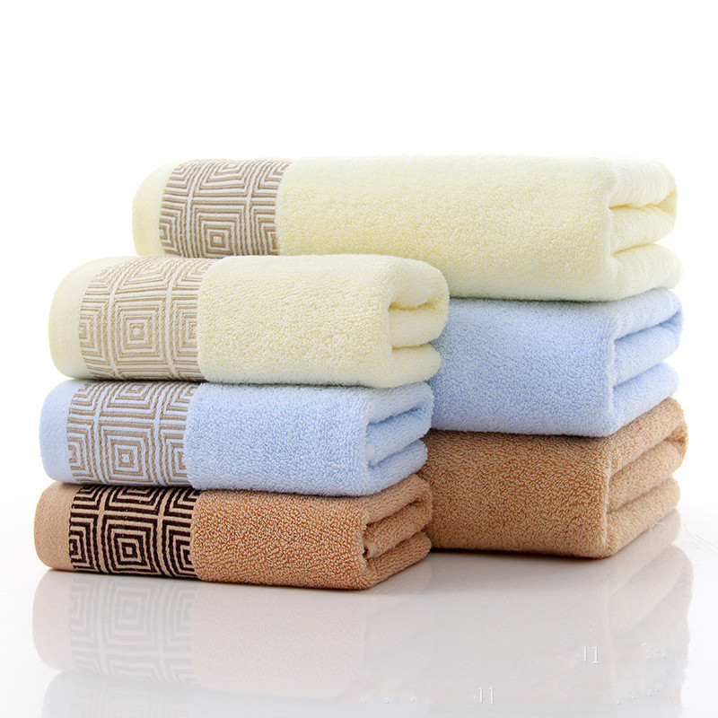 Towels with 74x34cm and 140x70cm 100% Cotton Bath Towel Face Towel for babychildrenadult beach Spa toweltowels with 3 color (3)