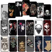 Mexican Skull Girl tattooed Soft Cover Case for iPh