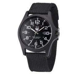 Модные Классические мужские часы в стиле милитари, кварцевые аналоговые парусиновые часы с ремешком, повседневные спортивные часы, мужские...