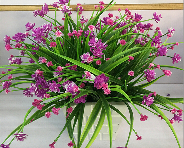 Artificial flowers mini plastic grass plant flower silk flower artificial flowers mini plastic grass plant flower silk flower wedding flower arrangement home decoration mightylinksfo Choice Image