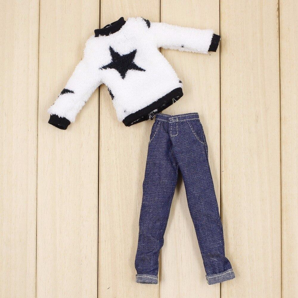 Neo Blythe Doll Plush Clothes Jeans Suit 1