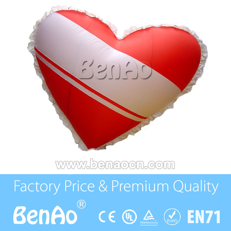 AO003 0 18mm pvc 2 5m Inflatable heart helium balloon with logo Inflatable shape helium balloon