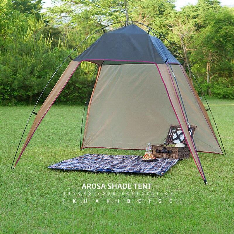 Tente extérieure ultralégère mur de vent Camping grand auvent automatique Camping tente de plage Anti UV auvent tentes abri solaire extérieur