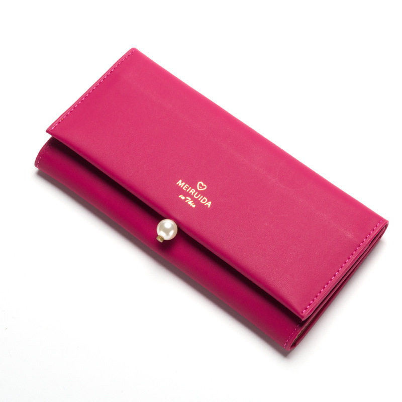 PU soft leather long style wallet, ladys temperament purse, hand carry purse.