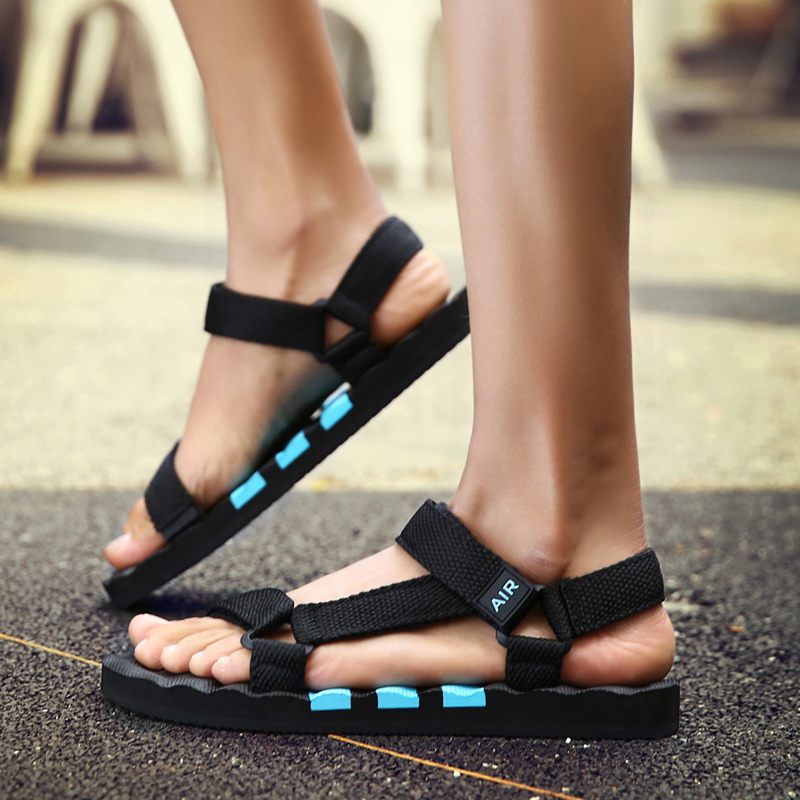 Flats-Shoes Sandals Flip-Flops Outdoor Breathable Gladiator Roman Fashion Men's Summer