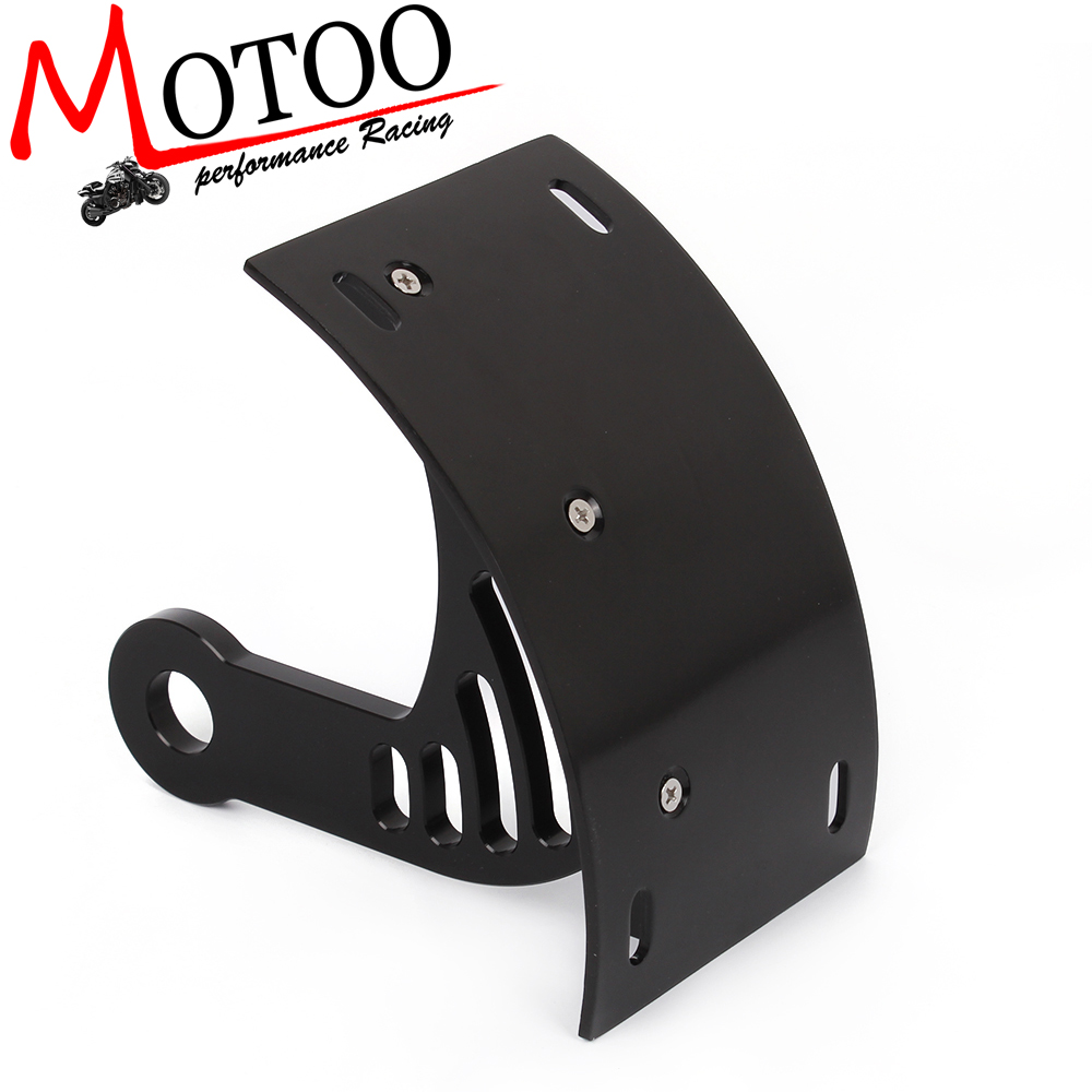 Motoo free shipping Motorcycle Curved Rear License Plate Frame Mount ...
