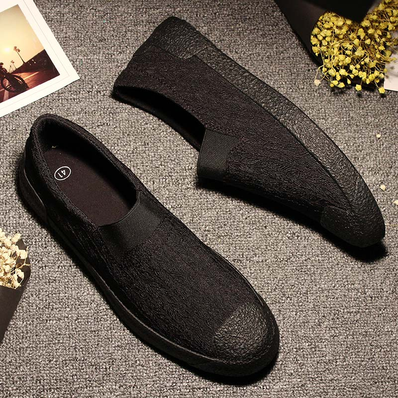 2018 Spring Summer Casual Canvas Shoes Men Breathable chaussure homme Male Slip On Footwear loafers designer men casual shoes in Men 39 s Casual Shoes from Shoes