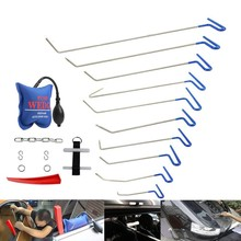 PDR Rods Paintless Dent Repair Tool Set Removal of Dents and Door Ding with Hook Car Auto Body