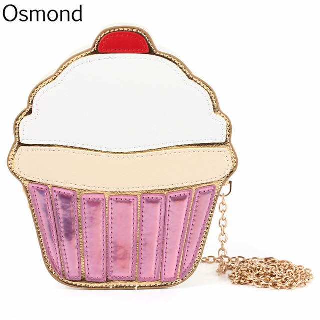 Aliexpress.com : Buy Osmond Women Shoulder Bag Girl Cupcake Chain ...