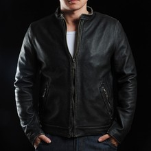 VANLED C Market.Free Shipping.EMS Top genuine leather jacket.Us sportswear