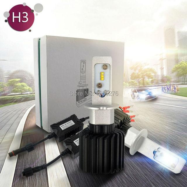 TAITIAN 4000LM G7 LED Headlight Conversion Kit 30W H3 Bulb 6500K White Super Light h3 in Car Light Source led car  Auto headlamp