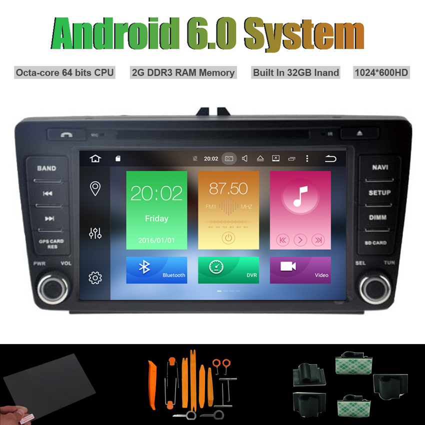2Camera+HD Android 6 0 Radio Stereo Car DVD Player GPS Navigation For VW Series