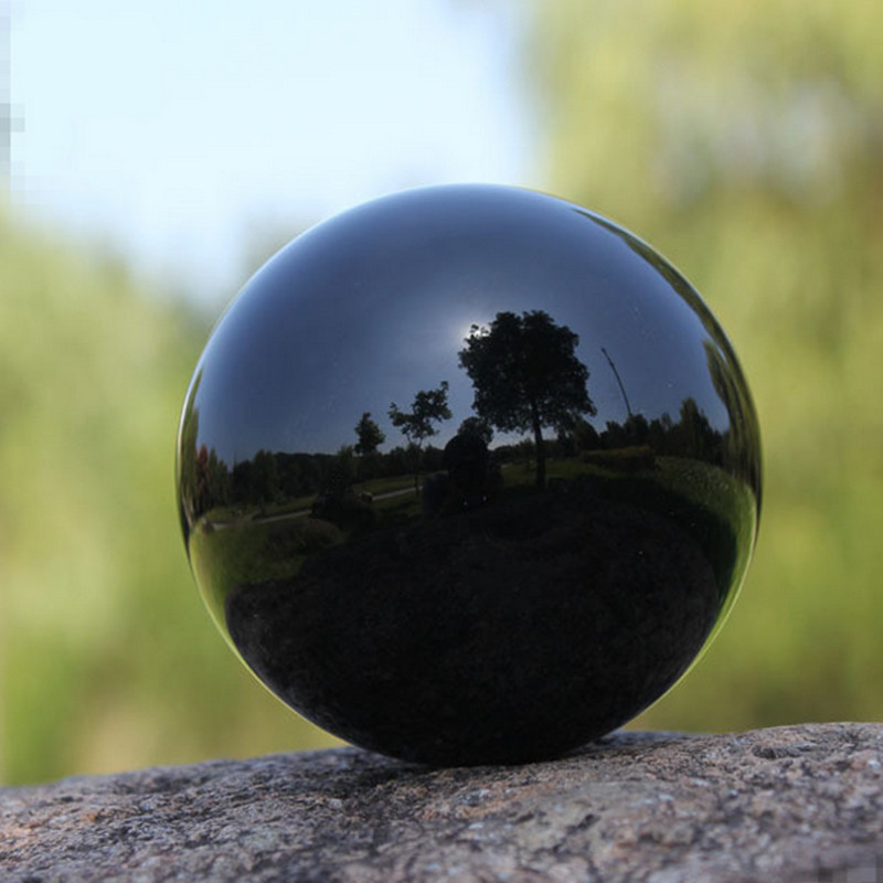 Mm black color crystal ball feng shui globe miniature