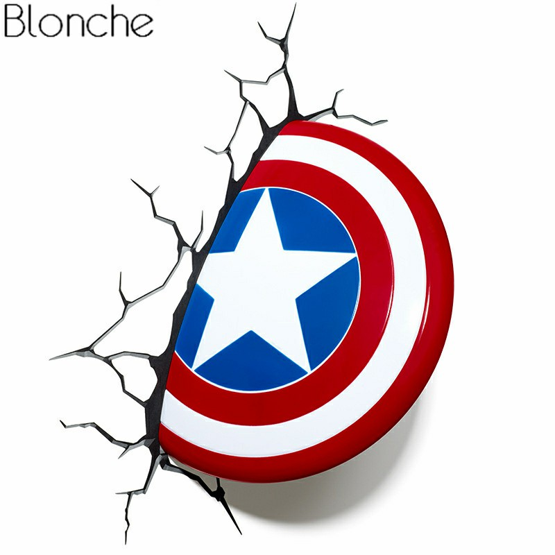 Superhero 3D Night Light Creative Lamp for Children Study Bedroom Living Room Bar Iron Man Spider Man Wall Lamp for Kid Gifts - 2