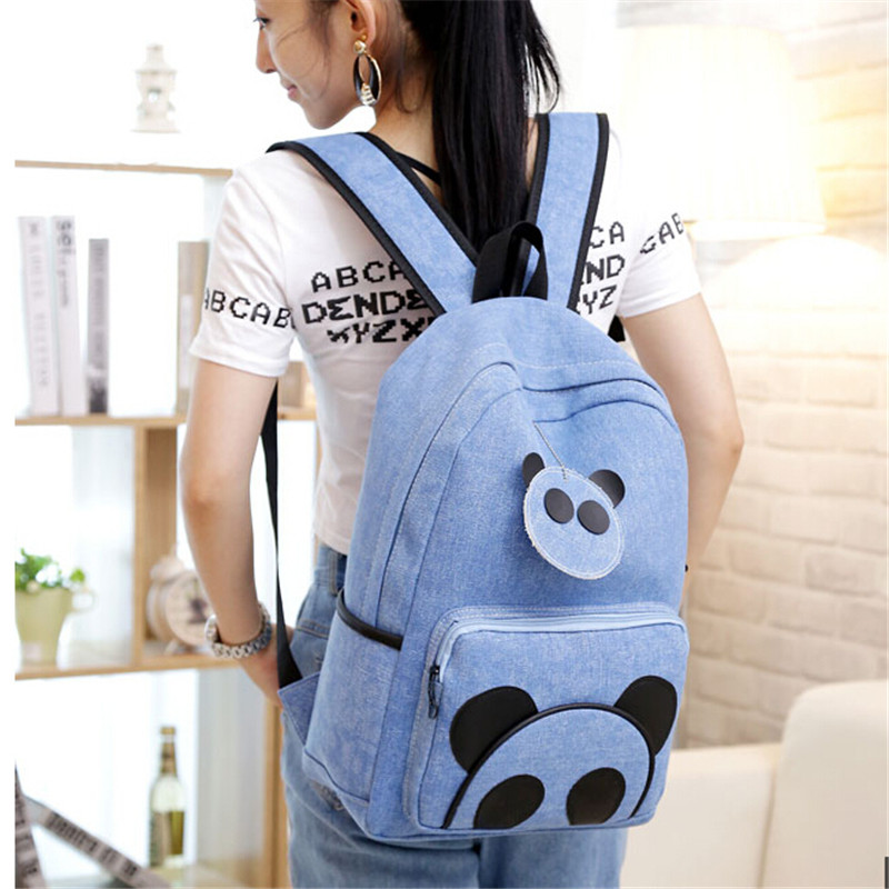 New Brand Cute Panda Backpacks For Girls Fashion Panda Bags Preppy Style Bagkpacks 2016 Large Bags For Girls mochila feminina