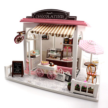 Doll House Miniature DIY Store Dollhouse With Furnitures Wooden House Toys For Children Birthday Gift diy miniature doll house casa toys dollhouse wooden model with 3d led furnitures house for dolls handmade toys for children e