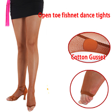 20a4c95cc5f Adult Women Black Tan Nude Professional Spandex Cheap Ballroom Latin Dance  Tights Seamless Thong Open Toe