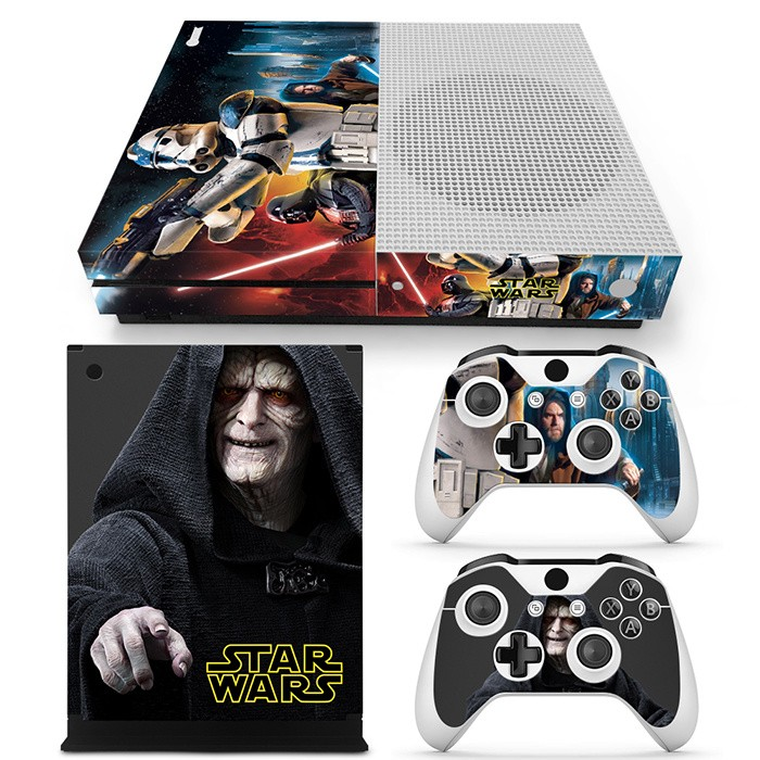 Star Wars For XBOX ONE Slim Console Game Sticker Cover Vinyl Decals and 2PCS Controllers Skins For Xbox One Slim Sticker