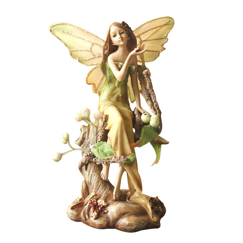 Europe Pastoral Forest Angel Figurines Home Decor Desktop Ornament Resin Crafts Christmas Gift Wedding Room New Home Furnishings-in Figurines & Miniatures from Home & Garden